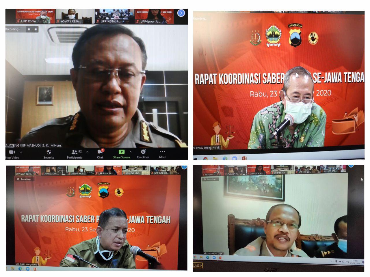 Rakor Saber Pungli Pengawalan Penanganan Covid-19 di Jawa Tengah