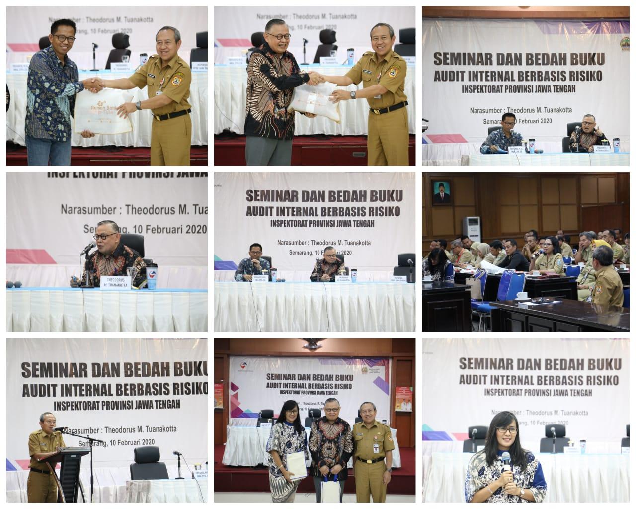 Bedah Buku dan Seminar Audit Internal berbasis Risiko INSPEKTORAT PROVINSI JAWA TENGAH